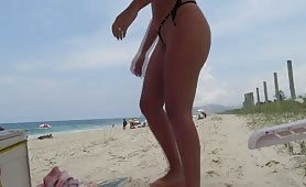 String bikini on wife