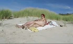 Redhead mature wife fucks on nudist beach
