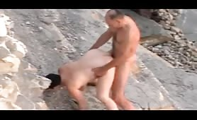 Bald husband fucking his chubby wife